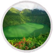 Santiago Lake Round Beach Towel