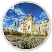 Santo Domingo Church Wide Angle Round Beach Towel
