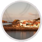 Sao Roque At Sunrise Round Beach Towel