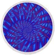 Sapphire Swirl Round Beach Towel