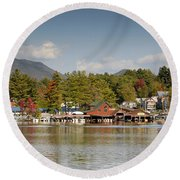 Saranac Lake Round Beach Towel