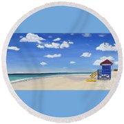 Sarasota Beach Round Beach Towel