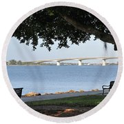 Sarasota Life 03 Round Beach Towel