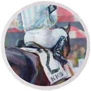 Saratoga Stripes Round Beach Towel