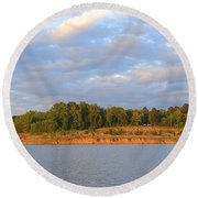 Sardis Lake Round Beach Towel