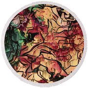 Sargam Abstract A1 Round Beach Towel