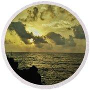 Sarjekot Sunset Point Round Beach Towel