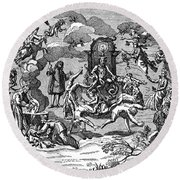 Satan With Cavorting Dancers, 18th Round Beach Towel