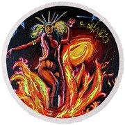Satanico Pandemonium Round Beach Towel