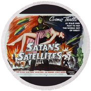 Satan's Satellites Round Beach Towel