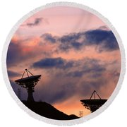 Satellite Sunset Round Beach Towel