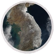 Satellite View Of Snowfall Along South Round Beach Towel