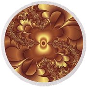 Satin And Lace Round Beach Towel