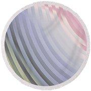 Satin Movements Lavender Round Beach Towel