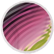 Satin Movements Pink II Round Beach Towel
