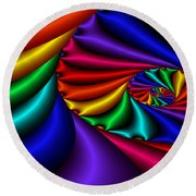 Satin Rainbow Round Beach Towel