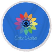 Sattva Institute Round Beach Towel
