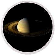 Saturn Enhanced Round Beach Towel
