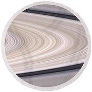 Saturns Ring System Round Beach Towel
