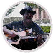 Savanna Blues Man Round Beach Towel