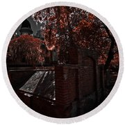 Savanna Georia Colonial Park Cemetery Color Infrared 500 Round Beach Towel