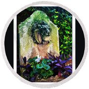 Savannah Fountain Round Beach Towel
