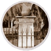 Savannah Sepia - Broken Round Beach Towel