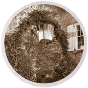 Savannah Sepia - Lovely Lamp Round Beach Towel