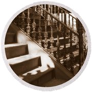 Savannah Sepia - Stairs Round Beach Towel