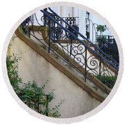 Savannah Stairs Round Beach Towel