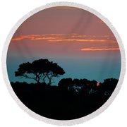Savannah Sunset Round Beach Towel