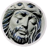 Saviours Sorrow Round Beach Towel