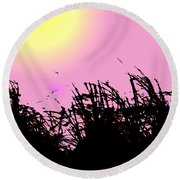 Saw Grass Round Beach Towel