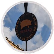 Saws Bbq And Soul Food Round Beach Towel