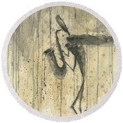Saxophone A Series Of Works  Round Beach Towel