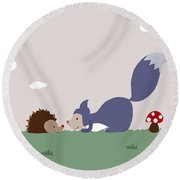 Say Yes To New Adcentures Round Beach Towel