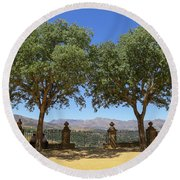 Scapes Of Our Lives #29 Round Beach Towel