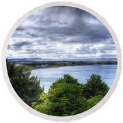 Scarborough Bay Round Beach Towel
