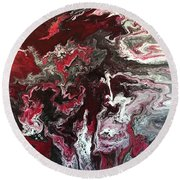 Scarlet Round Beach Towel