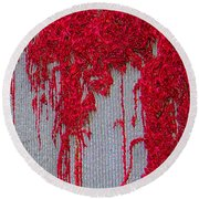 Scarlet Squiggle Round Beach Towel