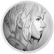 Scarlett Johansson As Major From Ghost In The Shell Round Beach Towel
