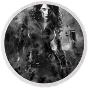 Scarlett Johansson Black Widow Round Beach Towel