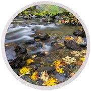 Scattered About Round Beach Towel