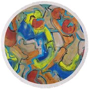 Scattered Roses Round Beach Towel
