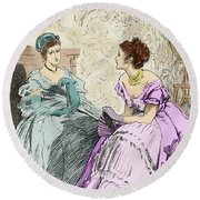 Scene From Anthony Trollope's Novel He Knew He Was Right Round Beach Towel