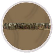 Scenes From The Life Of Saint Vincent Ferrer Round Beach Towel