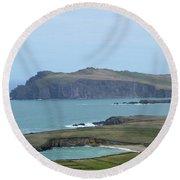 Scenic Blasket Islands As Seen From Slea Head Penninsula Round Beach Towel