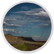 Scenic Highways Of Arizona Round Beach Towel