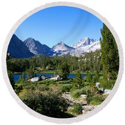 Scenic Mountain View Round Beach Towel