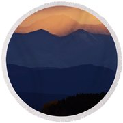 Scenic Northern Rockies Of British Columbia Round Beach Towel